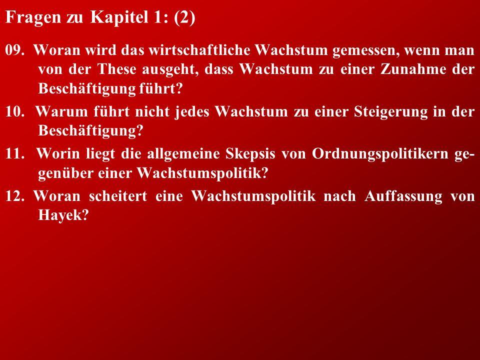 Fragen zu Kapitel 1: (2) 09.