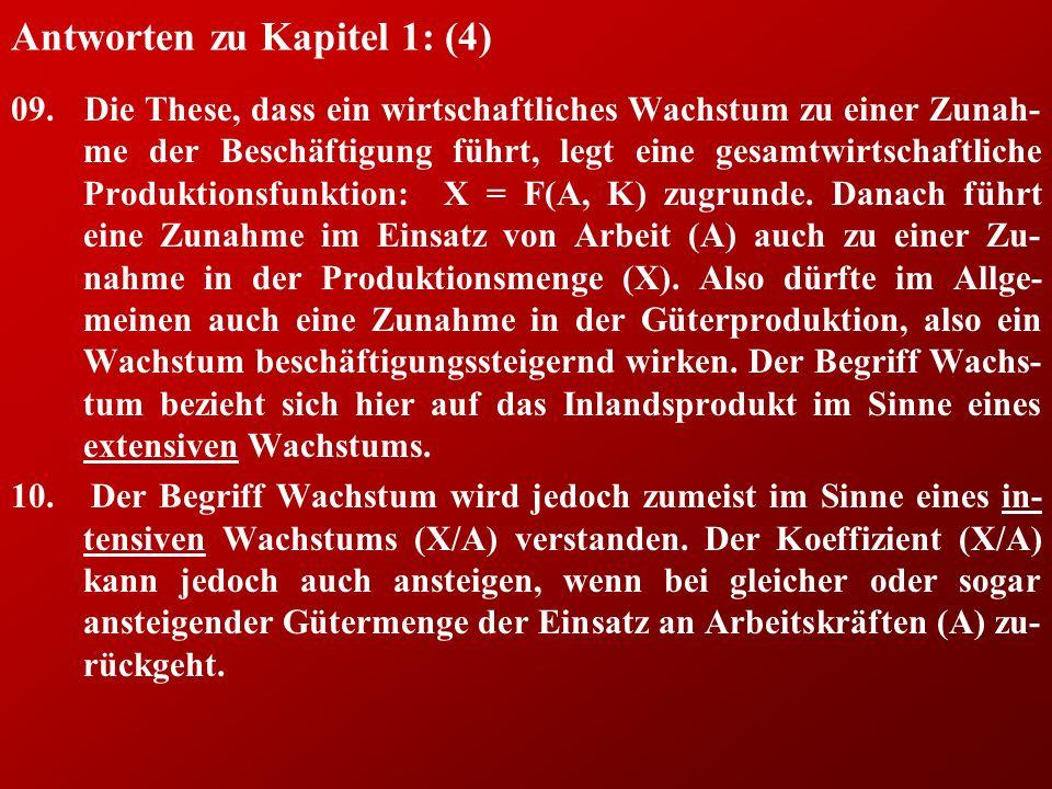 Antworten zu Kapitel 1: (4) 09.