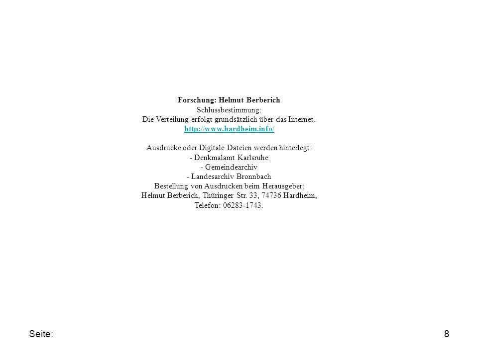 Seite:8 Forschung: Helmut Berberich Schlussbestimmung: Die Verteilung erfolgt grundsätzlich über das Internet.