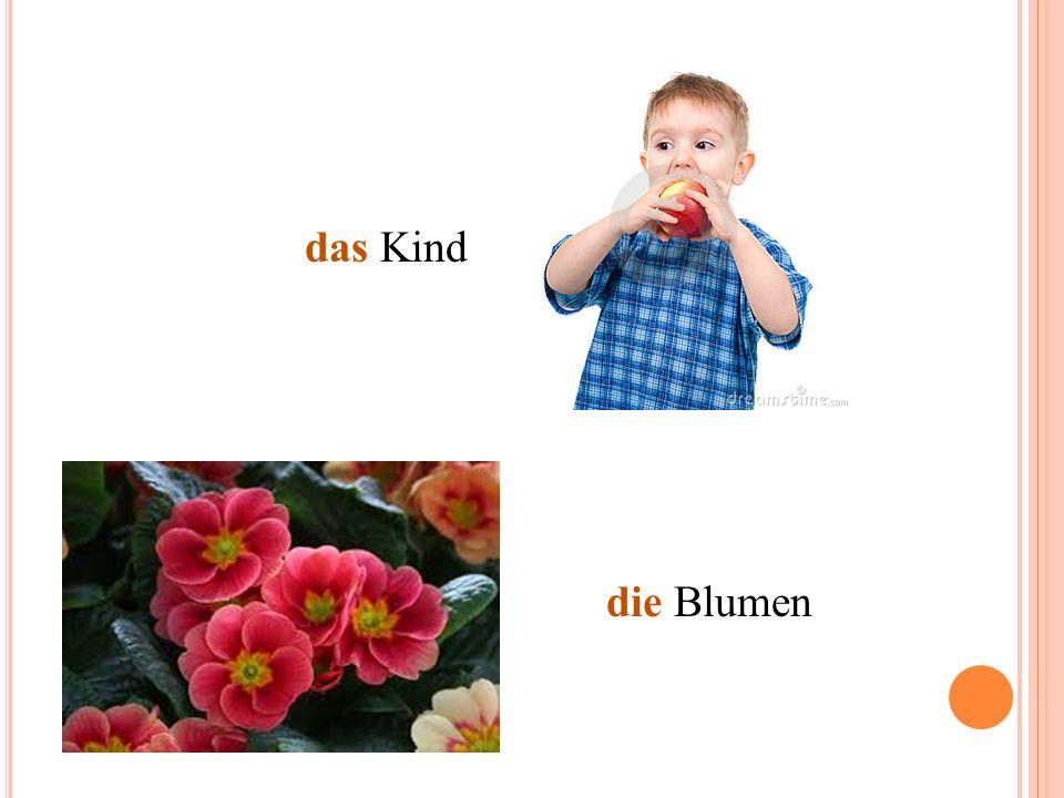 das Kind die Blumen