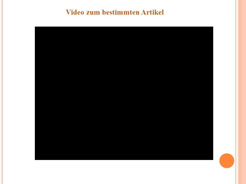 Video zum bestimmten Artikel