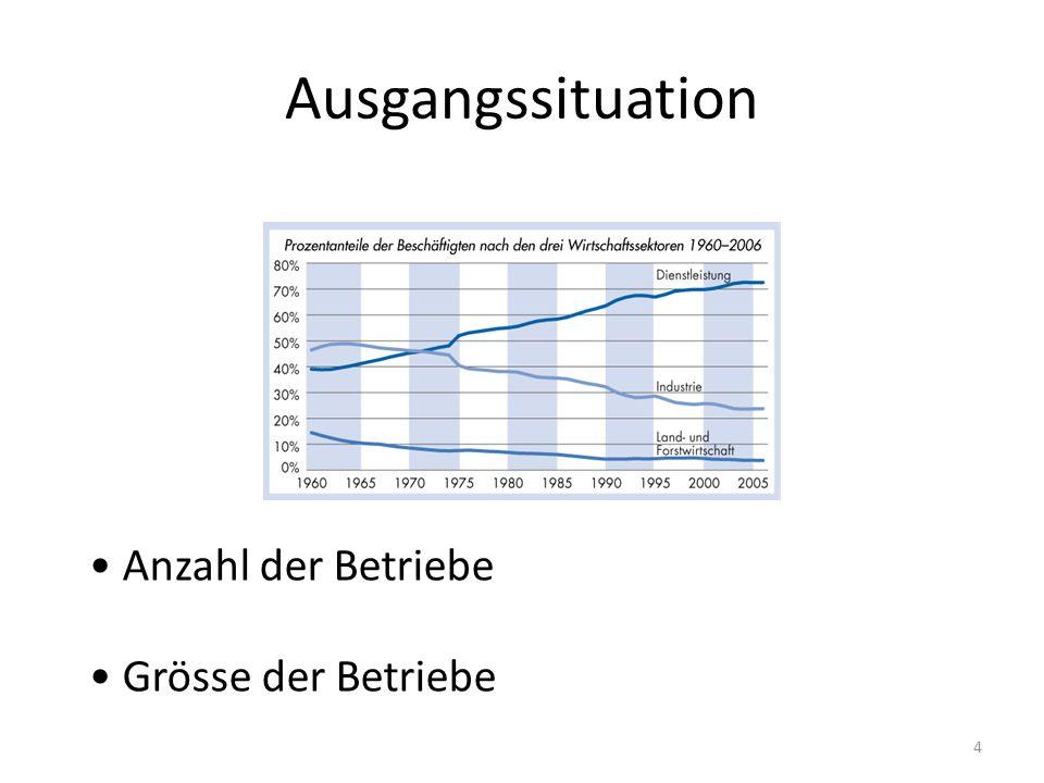 Ausgangssituation Anzahl der Betriebe Grösse der Betriebe 4