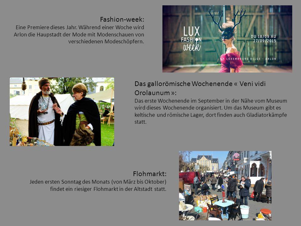 Das gallorömische Wochenende « Veni vidi Orolaunum »: Das erste Wochenende im September in der Nähe vom Museum wird dieses Wochenende organisiert.