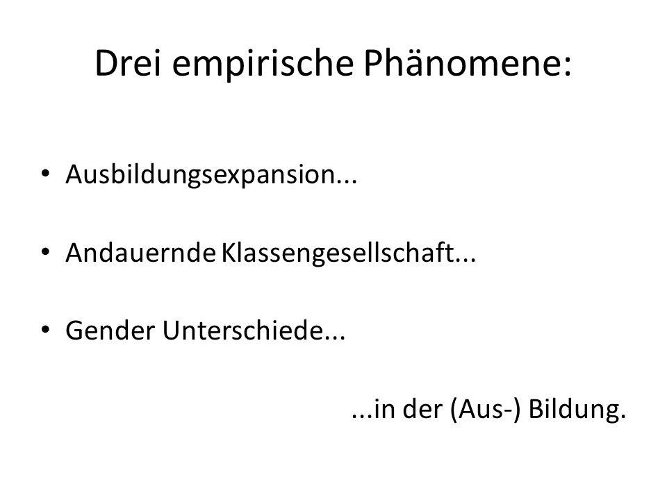 Drei empirische Phänomene: Ausbildungsexpansion...
