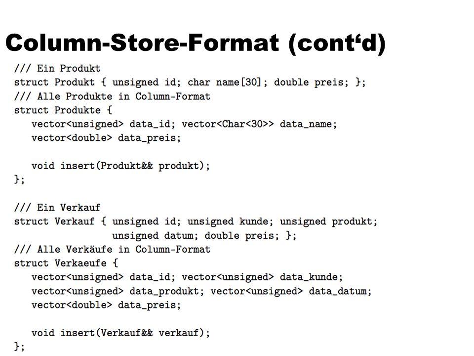 Column-Store-Format (cont'd)