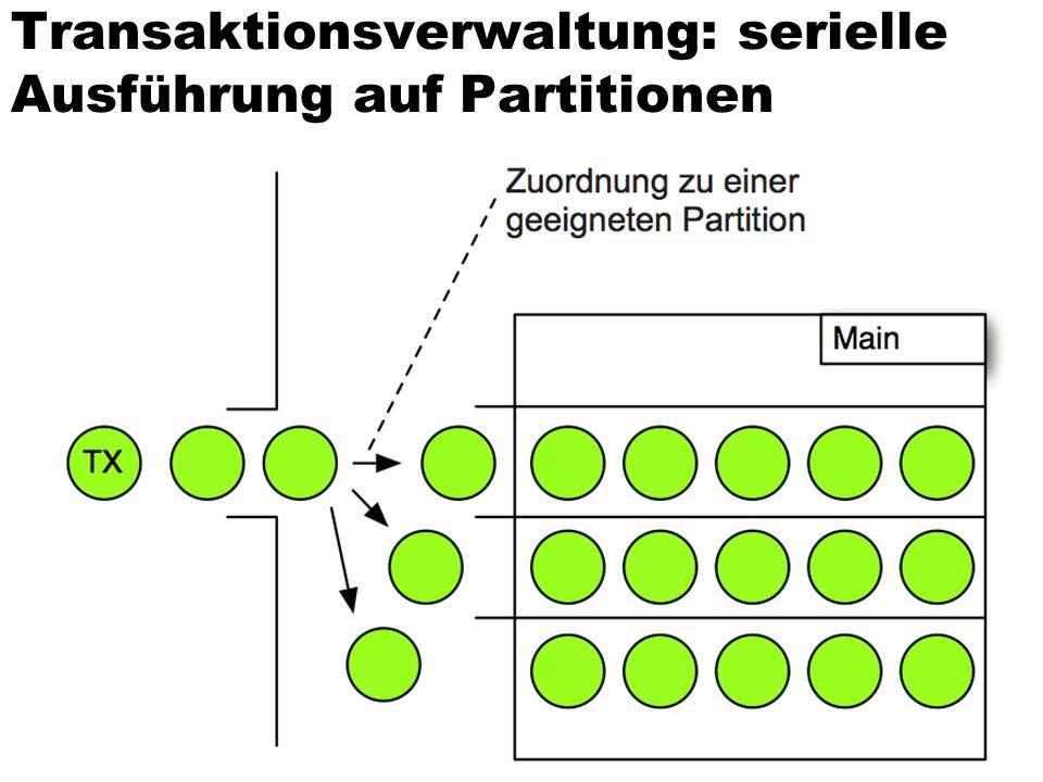 Transaktionsverwaltung: serielle Ausführung auf Partitionen