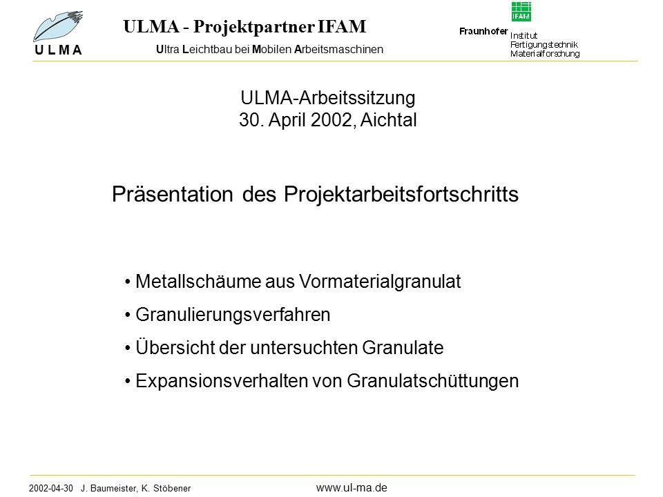 Ultra Leichtbau bei Mobilen Arbeitsmaschinen 2002-04-30 J.