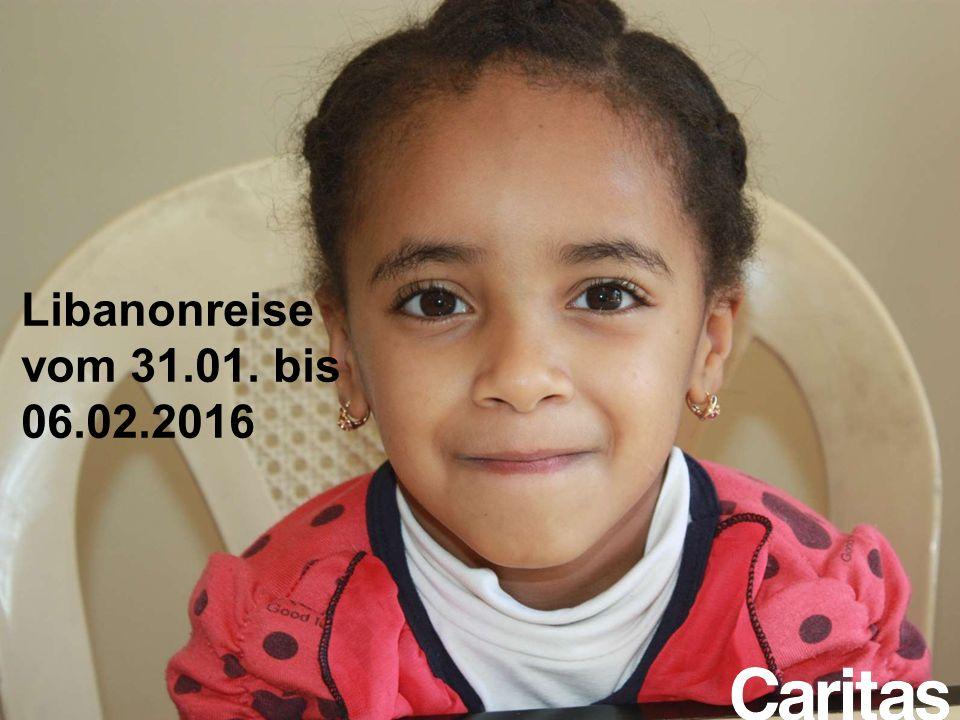 Im Rahmen der Kinderpatenschaftsaktion unterstützt die Caritas Salzburg die Schulbildung besonders benachteiligter Mädchen aus dem Slumviertel Haggana in der Schule der Barmherzigen Schwestern im Stadtteil Abbassieh der Hauptstadt Kairo Libanonreise vom 31.01.