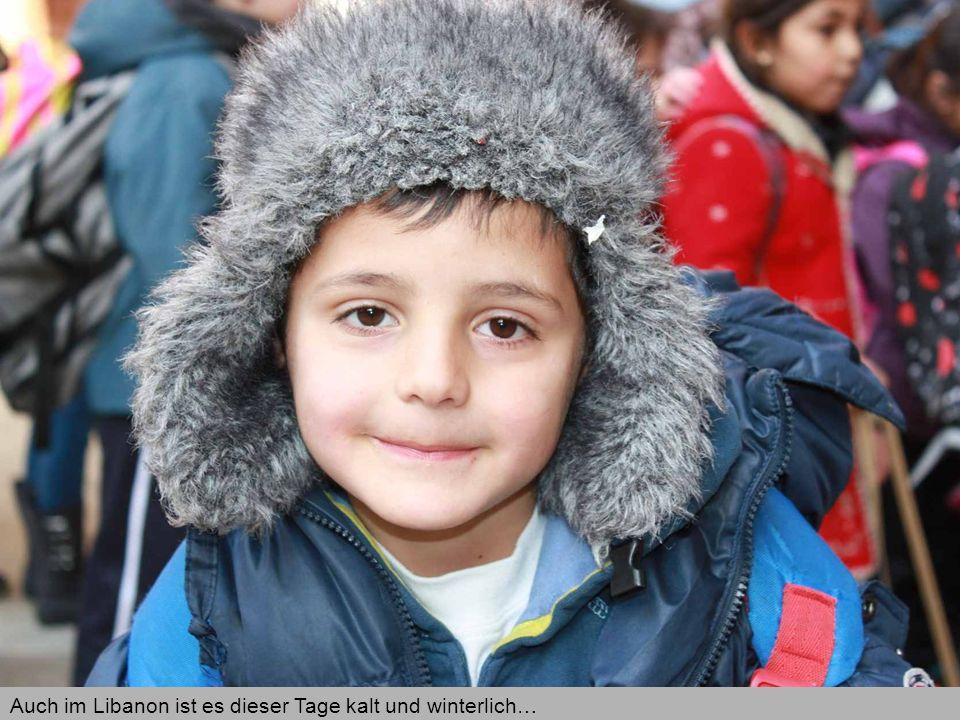 Auch im Libanon ist es dieser Tage kalt und winterlich…
