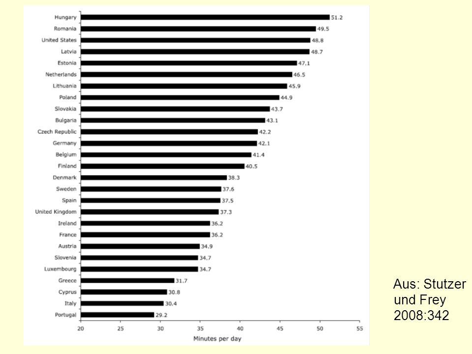 Aus: Stutzer und Frey 2008:342