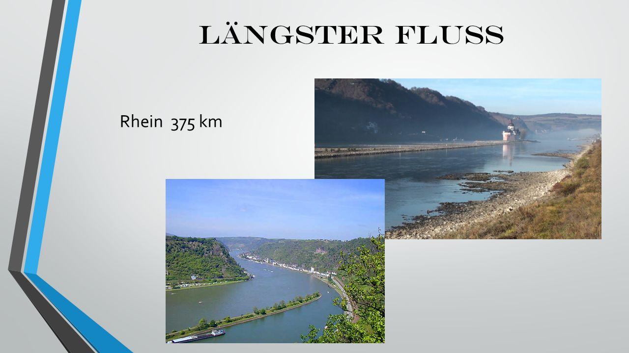LÄNGSTER FLUSS Rhein 375 km