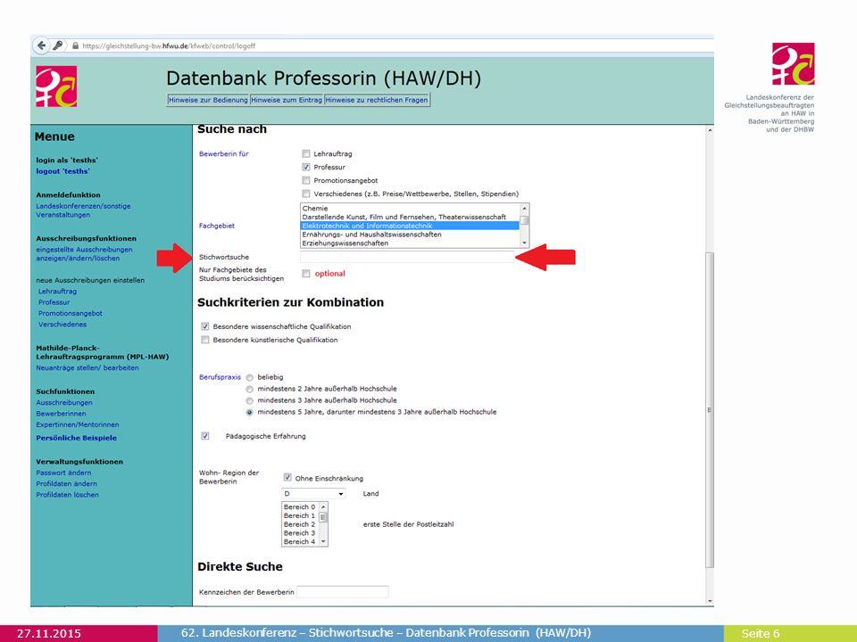 Seite 7 Ohne Stichwortsuche, mit Auswahl Fachgebiet: Elektrotechnik und Informationstechnik 27.11.2015 62.