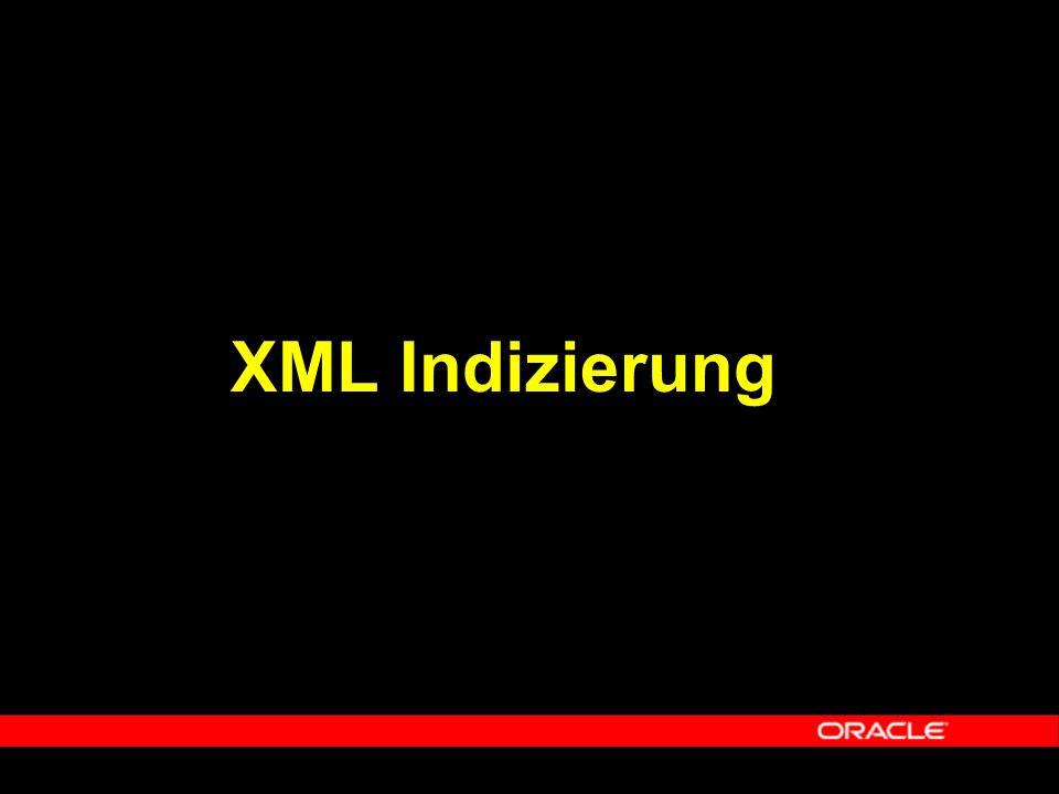  XML Indizierung