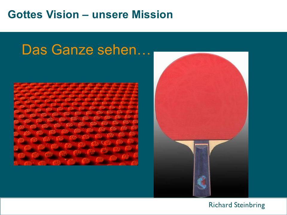 Gottes Vision – unsere Mission Richard Steinbring Das Ganze sehen…