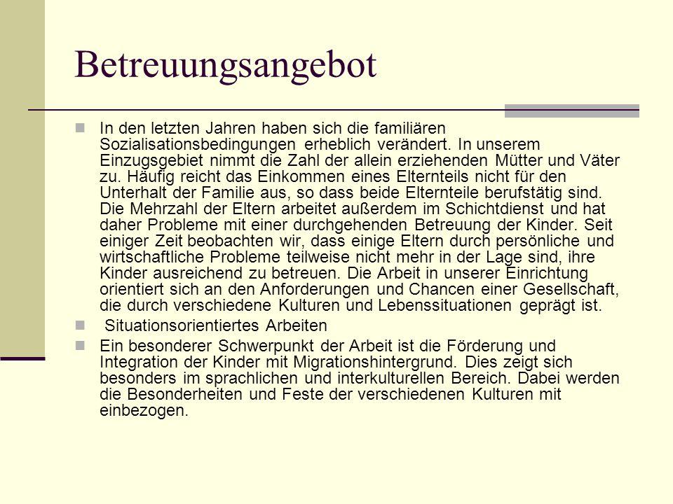 Betreuungsangebot Waldschule Seit dem 01.