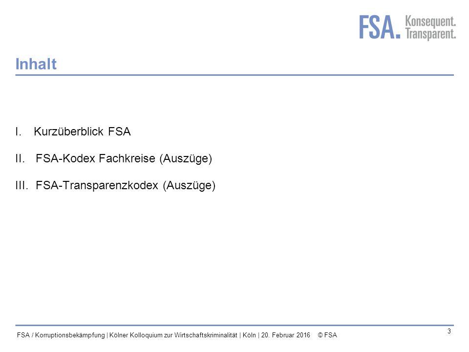 Mastertitelformat bearbeiten 4 FSA / Korruptionsbekämpfung | Kölner Kolloquium zur Wirtschaftskriminalität | Köln | 20.