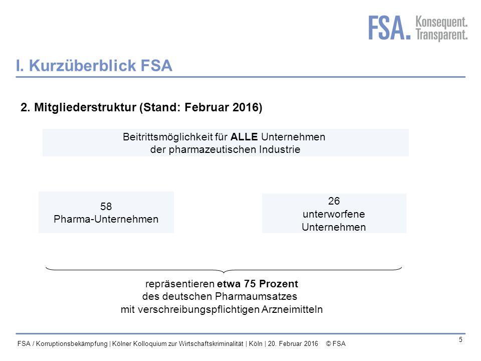Mastertitelformat bearbeiten 6 FSA / Korruptionsbekämpfung | Kölner Kolloquium zur Wirtschaftskriminalität | Köln | 20.