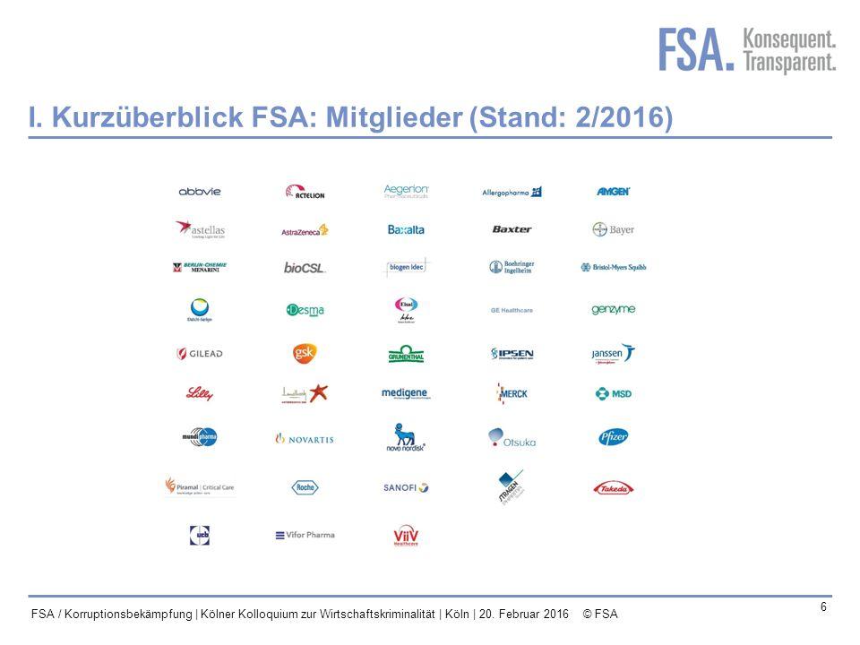Mastertitelformat bearbeiten 7 FSA / Korruptionsbekämpfung | Kölner Kolloquium zur Wirtschaftskriminalität | Köln | 20.