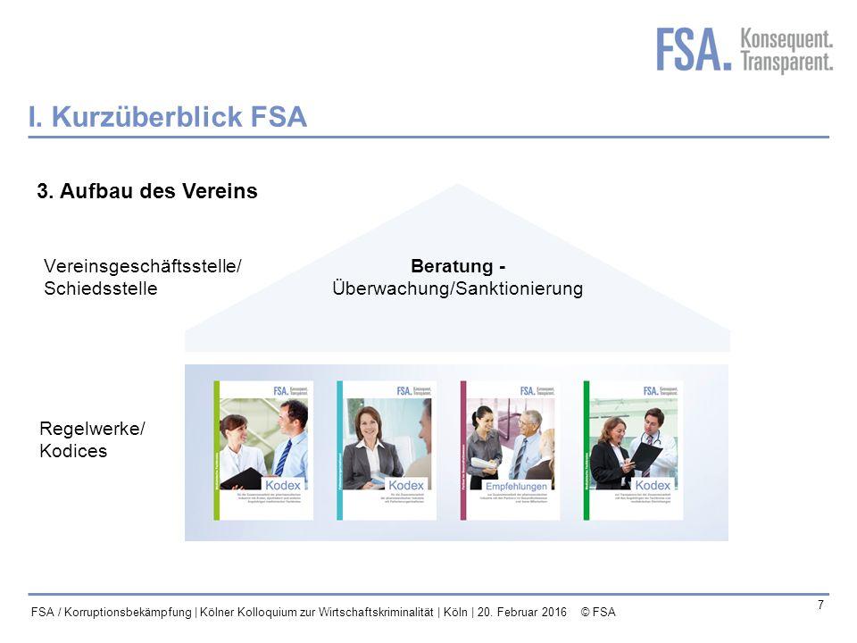 Mastertitelformat bearbeiten 8 FSA / Korruptionsbekämpfung | Kölner Kolloquium zur Wirtschaftskriminalität | Köln | 20.