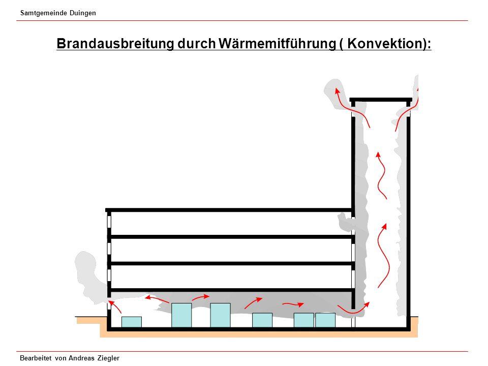 Samtgemeinde Duingen Bearbeitet von Andreas Ziegler Brandausbreitung durch Wärmemitführung ( Konvektion):