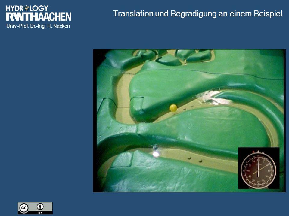 Univ.-Prof. Dr.-Ing. H. Nacken Translation und Begradigung an einem Beispiel
