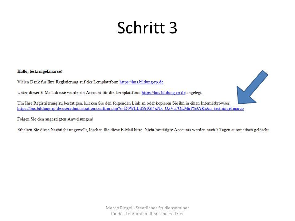 Schritt 3 Marco Ringel - Staatliches Studienseminar für das Lehramt an Realschulen Trier