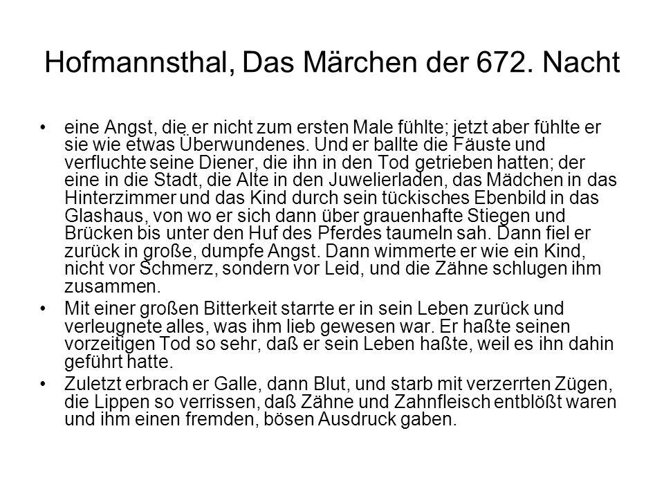 Hofmannsthal, Das Märchen der 672.