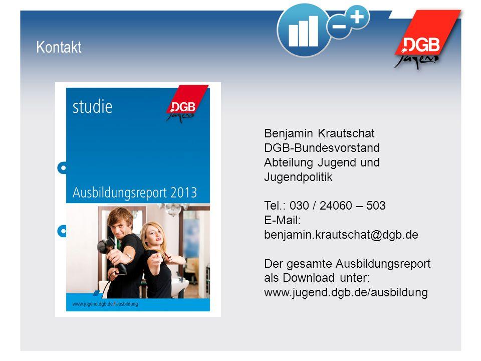 Kontakt Benjamin Krautschat DGB-Bundesvorstand Abteilung Jugend und Jugendpolitik Tel.: 030 / 24060 – 503 E-Mail: benjamin.krautschat@dgb.de Der gesam