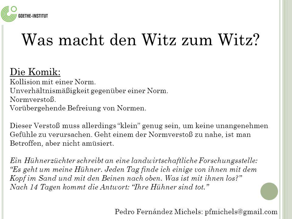 Pedro Fernández Michels: pfmichels@gmail.com Ein Schweizer, ein Schwabe und ein Berliner sitzen im Zugabteil.