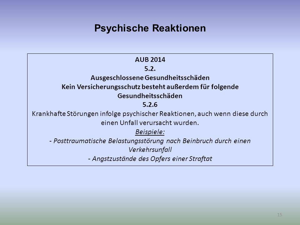 Psychische Reaktionen 15 AUB 2014 5.2.