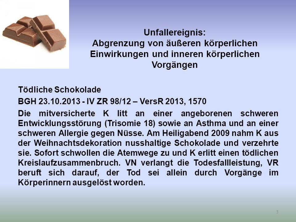 Versuchte oder vollendete vorsätzliche Ausführung einer Straftat Ein bombiges Eishockeyspiel OLG Saarbrücken 25.06.2014 – 5 U 83/13 – juris VN erwarb von einem Arbeitskollegen zwei Kugelbomben, nämlich nicht zugelassene pyrotechnische Gegenstände.