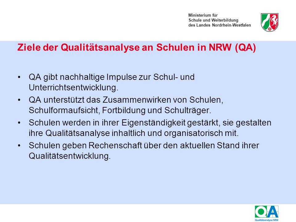 Ministerium für Schule und Weiterbildung des Landes Nordrhein-Westfalen Kriterien des Qualitätsaspekts 1.1