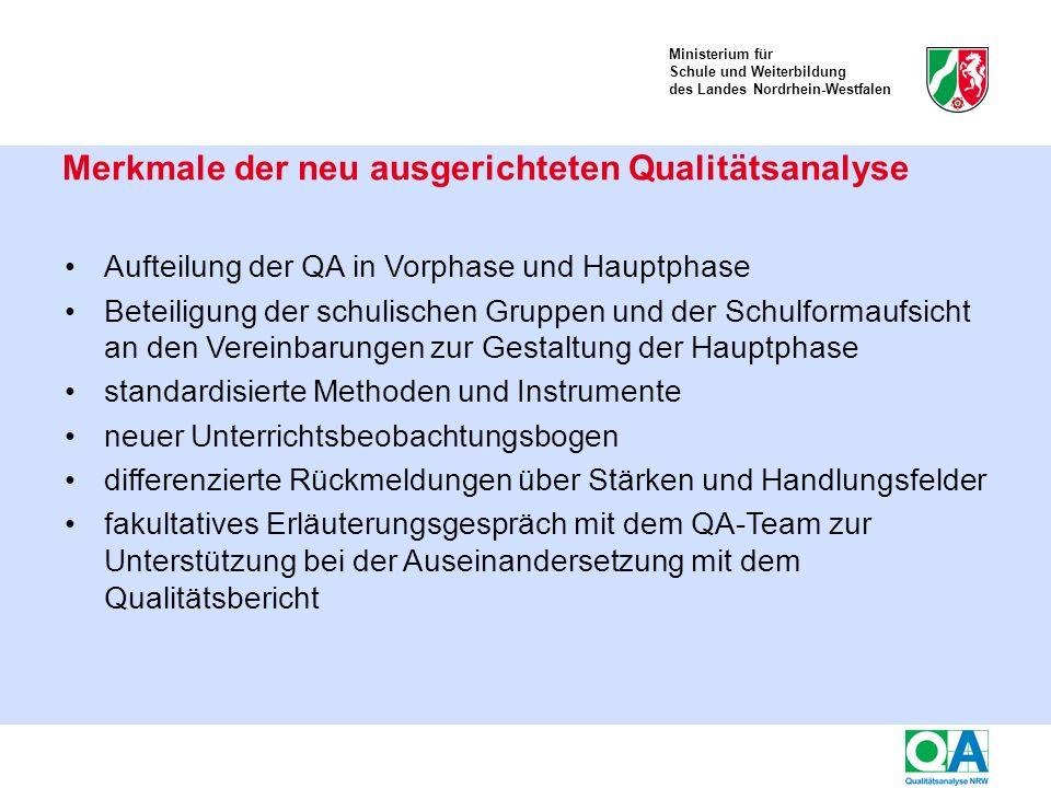 Ministerium für Schule und Weiterbildung des Landes Nordrhein-Westfalen Kriterien des Qualitätsaspekts 2.1