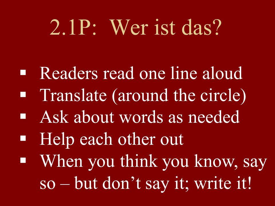Some... oddities (2) ichles-ewirles-en er/sielies-tSie/sieles-en e->ie lesen 'to read