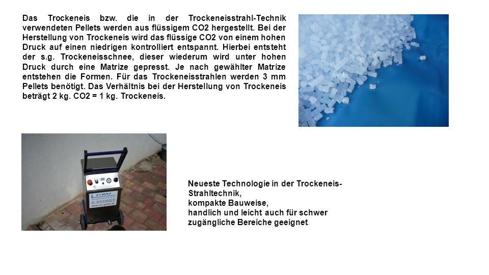 Neueste Technologie in der Trockeneis- Strahltechnik, kompakte Bauweise, handlich und leicht auch für schwer zugängliche Bereiche geeignet.