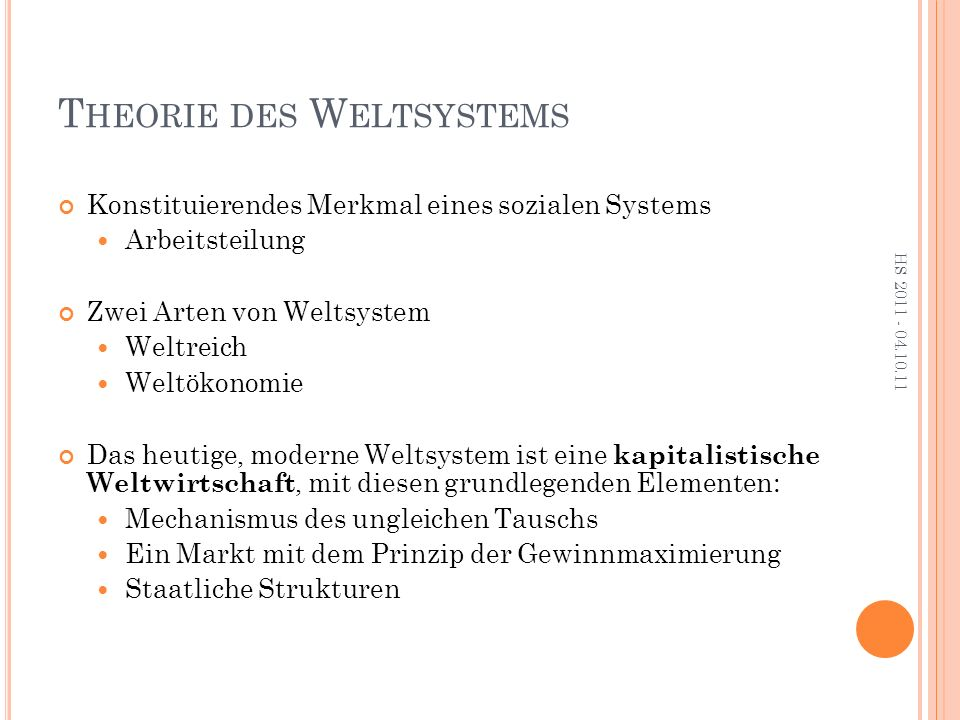 K RITIK Definition Weltsystem Internationale Arbeitsteilung notwendig.