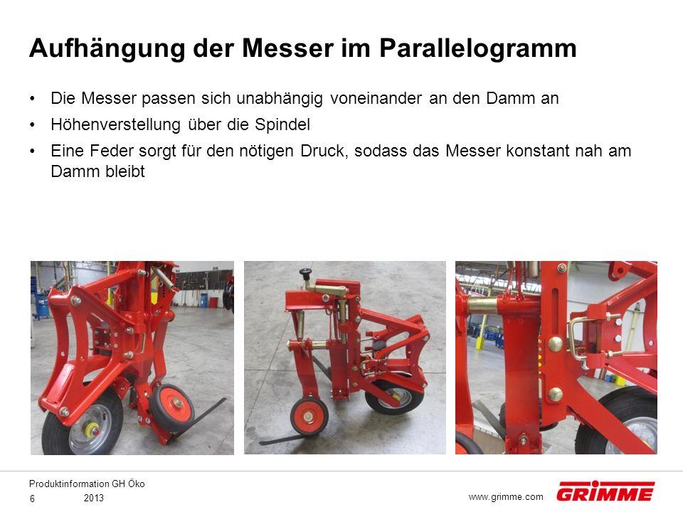 Produktinformation GH Öko 2013 7 www.grimme.com Zinken Nr.