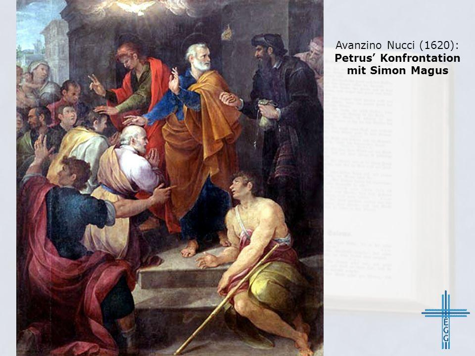 Avanzino Nucci (1620): Petrus' Konfrontation mit Simon Magus
