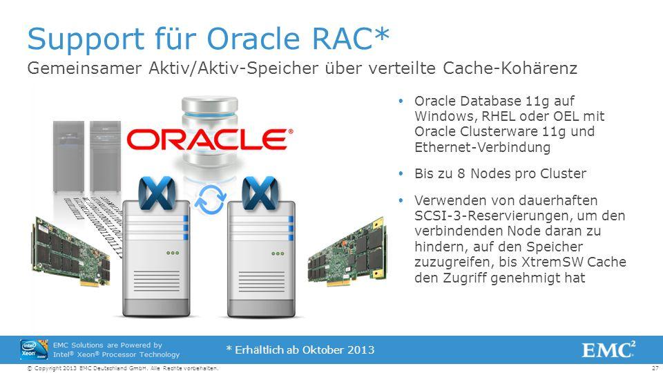 27© Copyright 2013 EMC Deutschland GmbH. Alle Rechte vorbehalten.