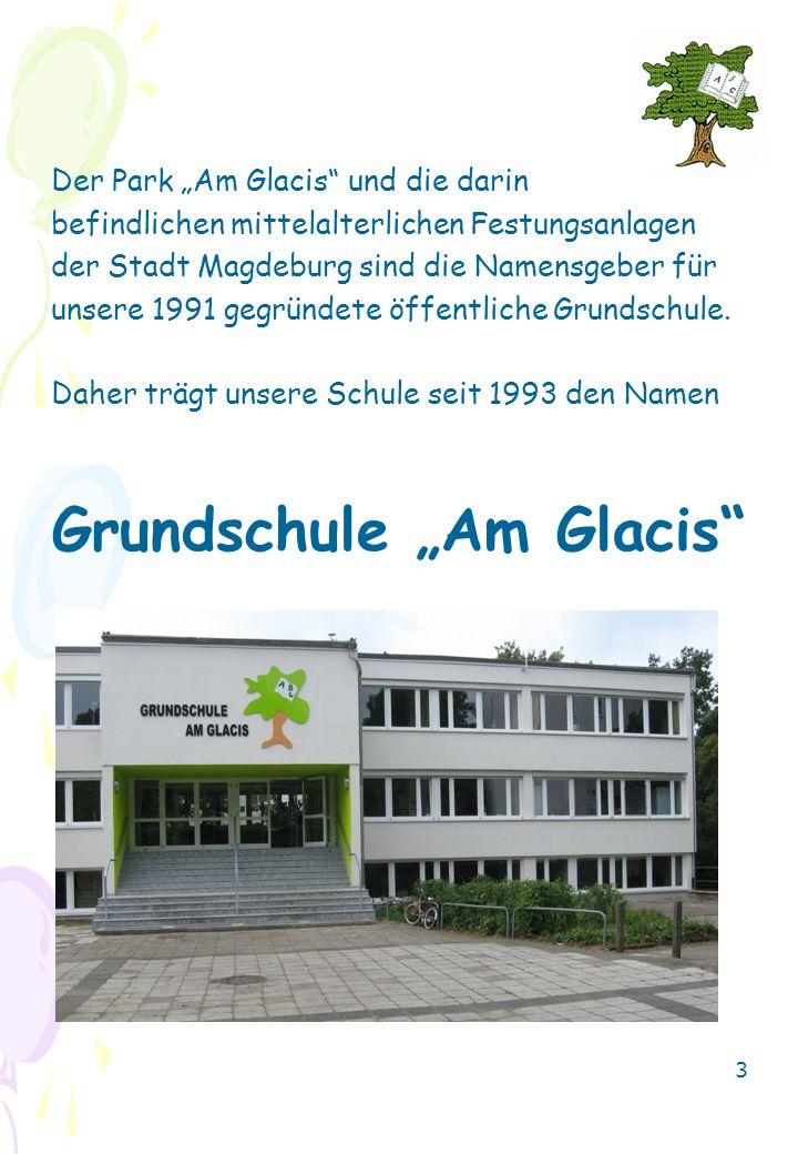 """Der Park """"Am Glacis"""" und die darin befindlichen mittelalterlichen Festungsanlagen der Stadt Magdeburg sind die Namensgeber für unsere 1991 gegründete"""