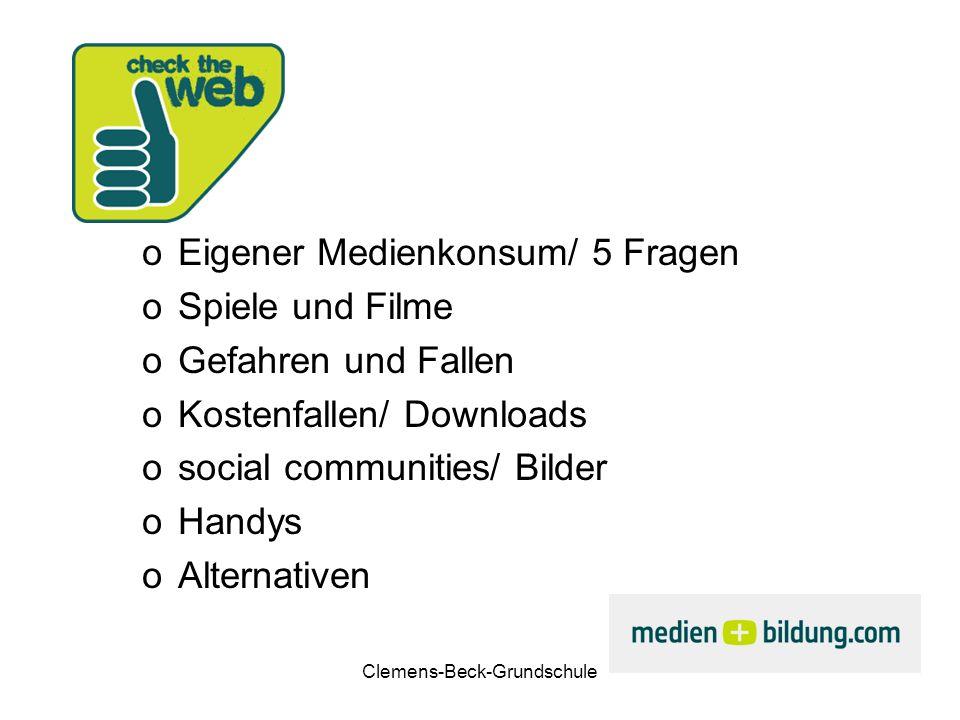 Clemens-Beck-Grundschule Spiele und Filme Jugendschutz (USK und FSK) Faszination Spiel (am Beispiel wow) Wertvolle Games.