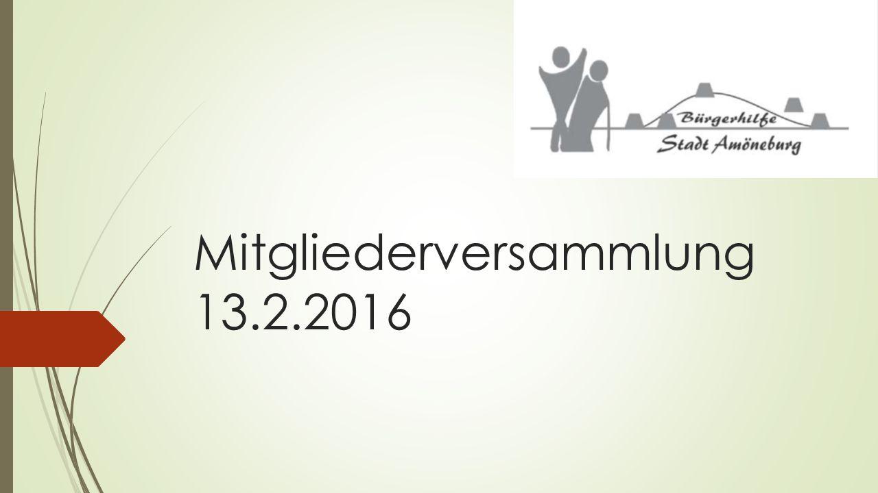 Mitgliederversammlung 13.2.2016