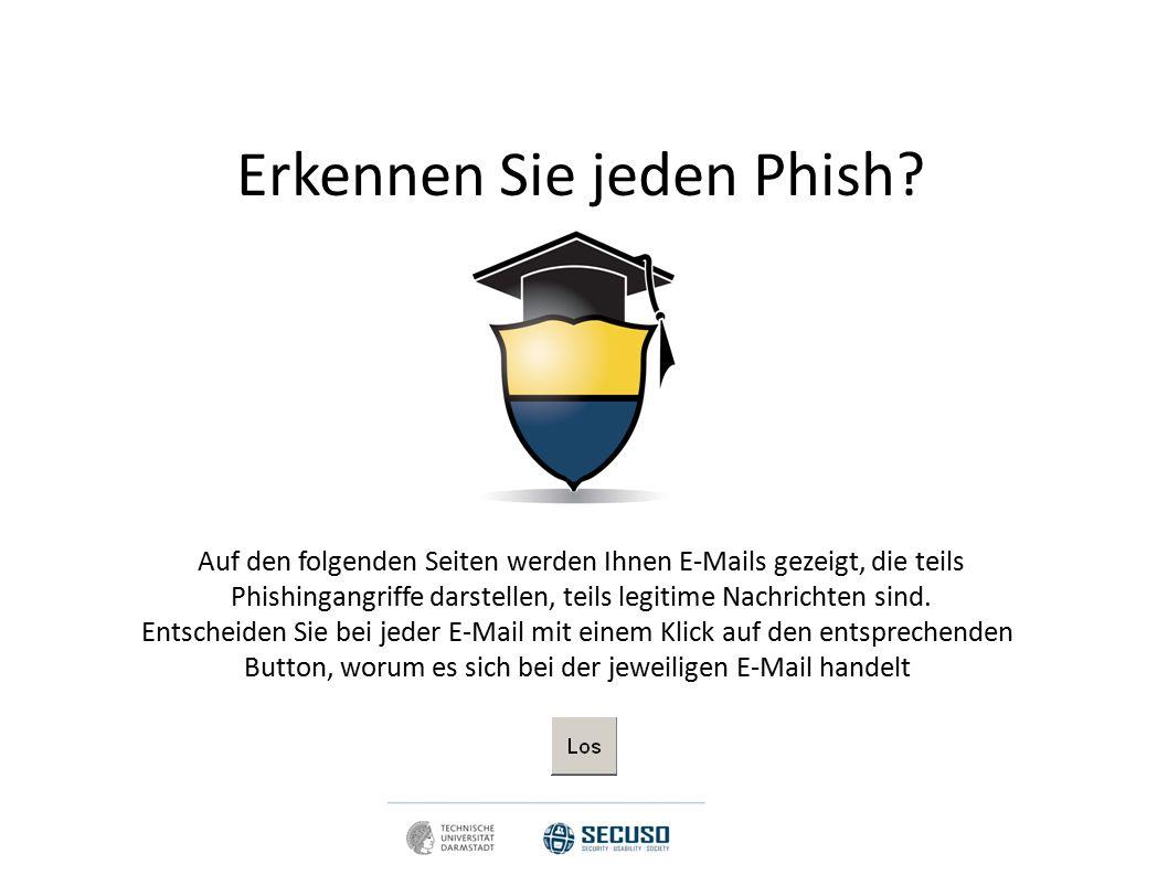 Falsch! Dies ist ein Phish! Sie wären auf den Phishing Angriff reingefallen.
