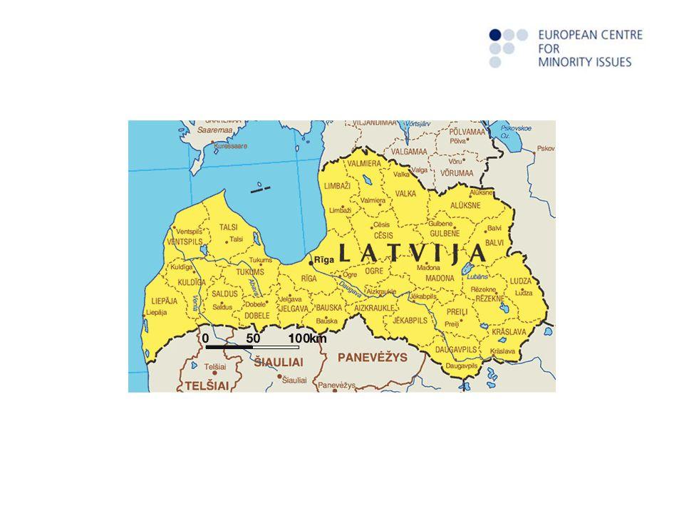 Minderheiten in Lettland Autochtone Minderheiten: mindestens in 3 Generationen Allochtone Minderheiten Gesamtzahl – rund 100 verschiede Völker Bei EU Eintritt 2004 – Lettland mit höchsten Prozentsatz von allochtonen Bewohner