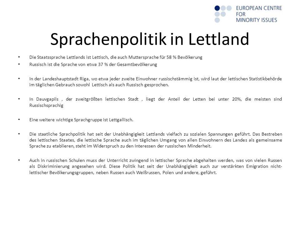 Minderheitenstatistk Lettische Einwohner, die Nichtbürger sind, nach Ethnie (1.