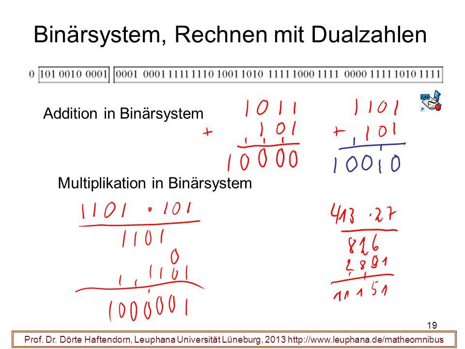 Binärsystem, Rechnen mit Dualzahlen Prof. Dr.