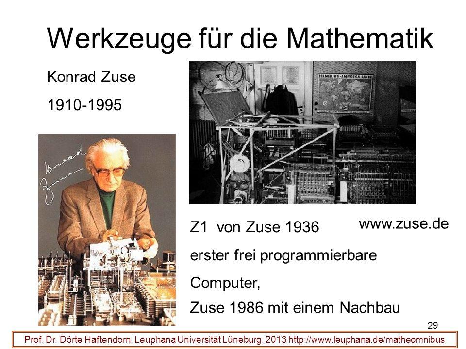 Werkzeuge für die Mathematik 29 Prof. Dr.