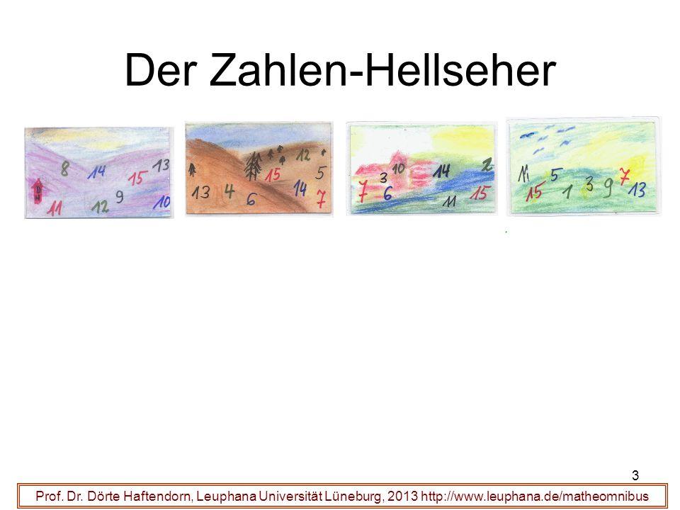 Der Zahlen-Hellseher Prof. Dr.