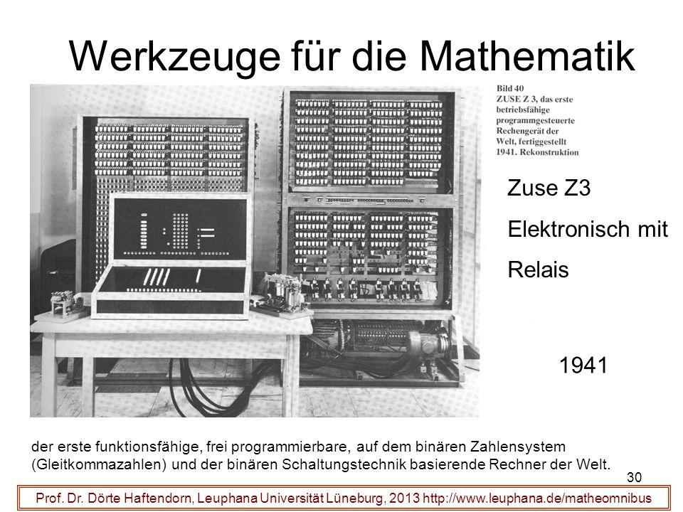 Werkzeuge für die Mathematik 30 Prof. Dr.