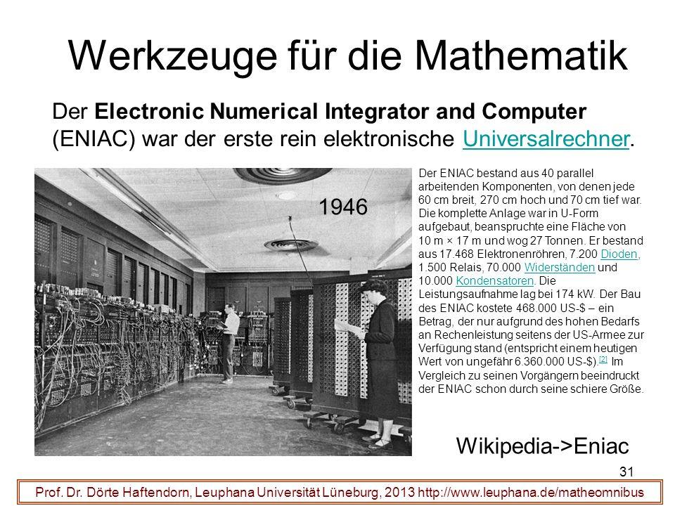 Werkzeuge für die Mathematik 31 Prof. Dr.